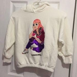 Zara hoodie size 6